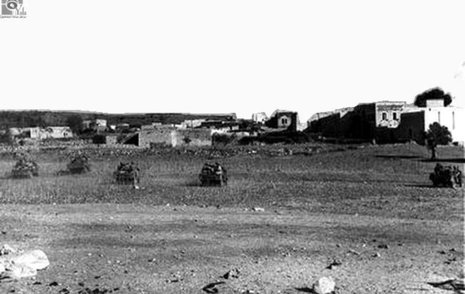 الصهيونيه تهاجم قرية الصفصاف قرب صفد عام 1948.jpg