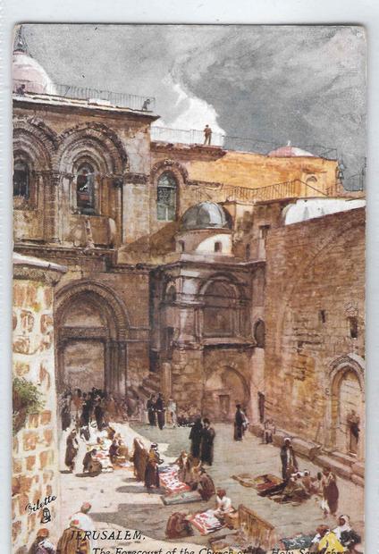 كنيسة القيامة في القدس فترة العشرينات.jpg