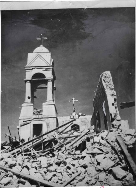 القديس جورج دمرها الاسرائليون عام 1946.jpg