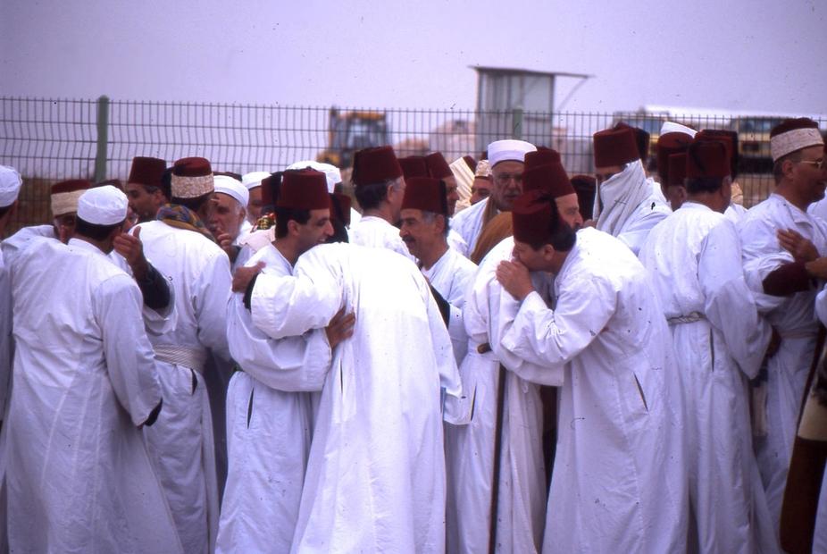 السامريين لبعضهم عند انتهاء الحج.jpg