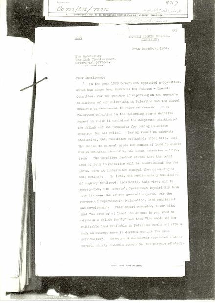 من الحاج امين الحسيني باللغة الانجليزية بتاريخ 27-12-1934.PDF