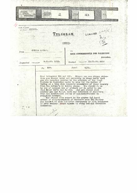 باللغة الانجليزية الى المندوب السامي بتاريخ 11-11-1920.PDF