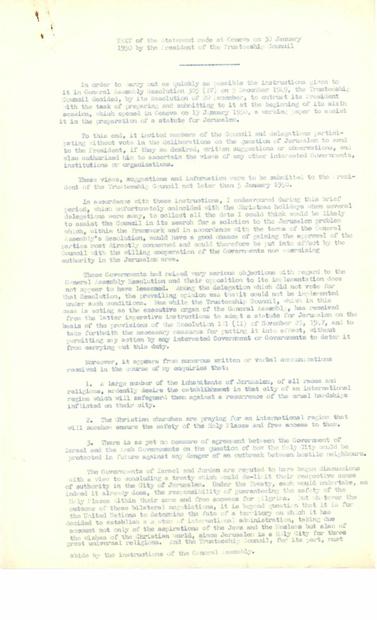 رئيس مجلس الوصاية في جنيف بتاريخ 30-1-1950 باللغة الانجليزية.PDF