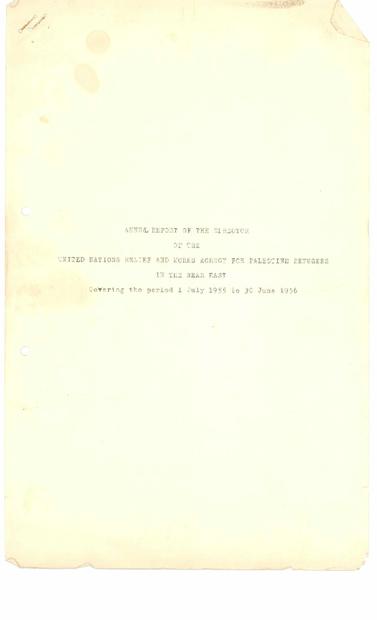 السنوي باللغة الانجليزية لمدير وكالة الغوث _الانروا) في الشرق الادنى لعامي 1955-1956.PDF