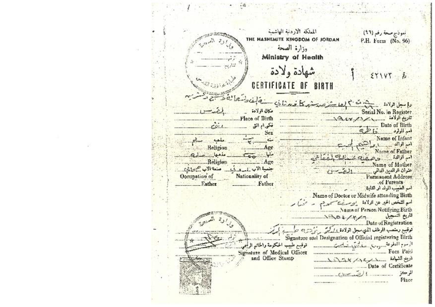 Birth Certifictae